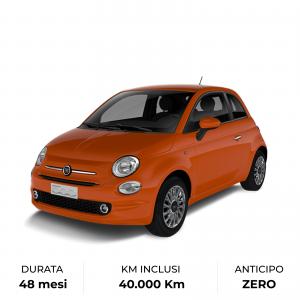 Fiat 500 è tua in versione ibrida con noleggio a lungo termine