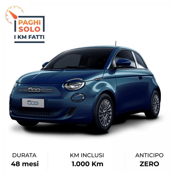 Fiat 500 elettrica in noleggio da Farina Rent